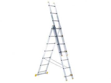 3-Part Eurostar Combination Ladder 3 x 11 Rungs 1