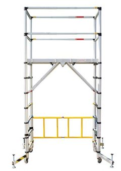 TT002 Teletower Aluminium Telescopic Scaffold Tower with Toeboards 1