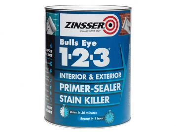 123 Bulls Eye Primer & Sealer Paint 1 Litre 1