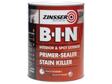 B.I.N Primer & Sealer Stain Killer Paint 1 Litre 1