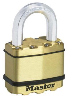 Excell™ Brass Finish 50mm Padlock 4-Pin 12