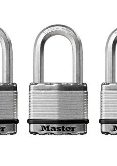 Excell™ Laminated Steel 50mm Padlock - 38mm Shackle - Keyed Alike x 3 5