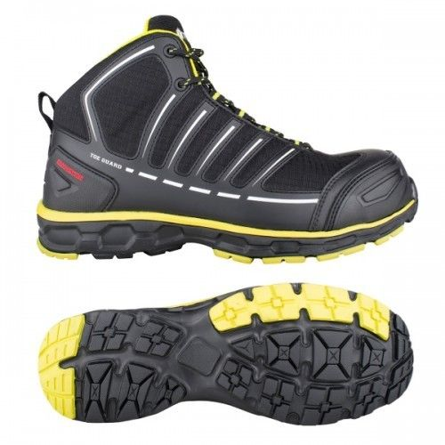 Snickers Toe Guard Safety Boots – Black & Yellow