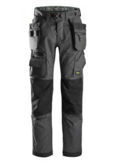Snickers Floorlayer Trousers 6923 With Holster Pockets - Grey 5