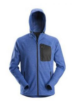 Snickers 8041 FlexiWork, Fleece Hoodie - True Blue 6
