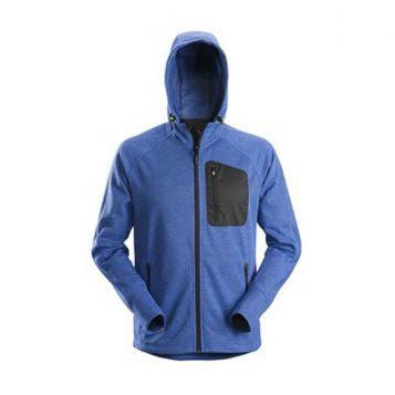 Snickers 8041 FlexiWork, Fleece Hoodie - True Blue 1