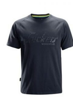 Snickers 2580 T-shirt Logo - Navy 7