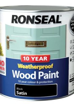 10 Year Weatherproof Wood Paint Black Satin 2.5 Litre 5