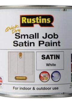 Quick Dry Small Job Satin Paint White 250ml 8
