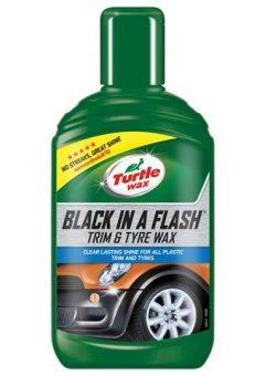 Black in a Flash Trim & Tyre Wax 300ml 12