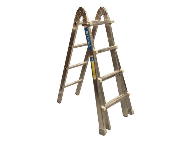 Utility Ladder 3-Part 3 x 4 Rungs 1