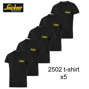 snickers 2502 t-shirt black