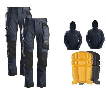 snickers trouser hoodie and kneepad bundle