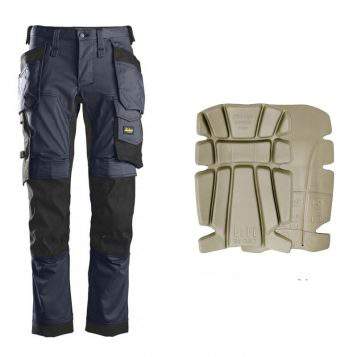 snickers 6241 navy with 9112 kneepads