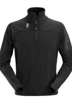 Snickers 9435 Zip Micro Fleece Pullover - Black 1