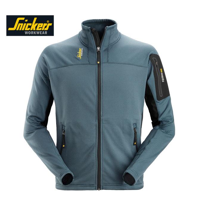 Snickers 9438 Full Zip Micro Fleece Pullover - Petrel Blue