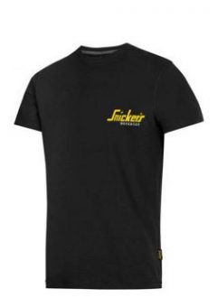 Snickers 2502 Classic T-Shirt Black With Snickers Logo 1