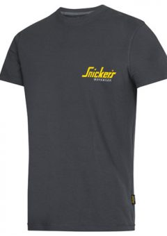Snickers 2502 grey logo t shirt