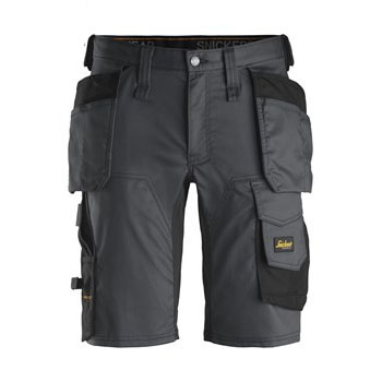 Snickers Shorts 6141 AllroundWork Stretch Shorts Holster Pockets - Steel Grey
