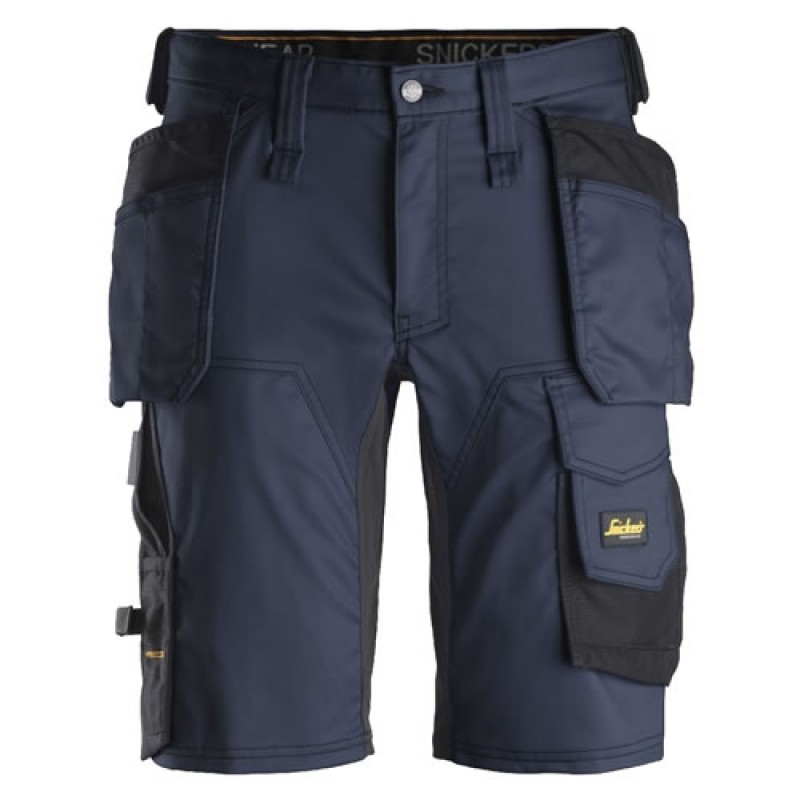 Snickers Shorts 6141 AllroundWork Stretch Shorts Holster Pockets - Navy