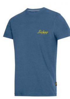 Snickers 2502 Classic T-Shirt Blue With Snickers Logo 2
