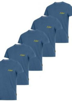 Snickers 2502 Classic T-Shirt Blue With Snickers Logo x 5 8