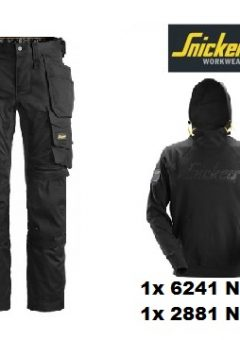 Snickers 6241 Trouser (Navy) And 2881 Hoodie (Navy)