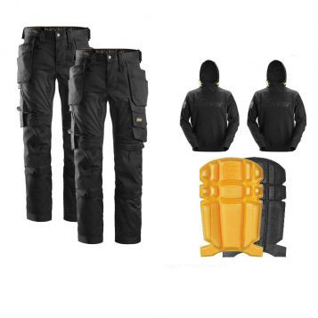 snickers trousers hoodie kneepad bundle