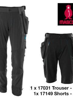 17031 17149 trouser short bundle BLACK