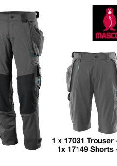 17031 17149 trouser short bundle GREY