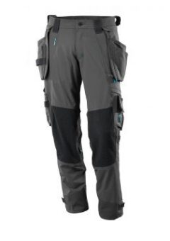 Mascot Workwear Trousers 17031 - Grey with Kneepad Pockets and Holster Pockets 1