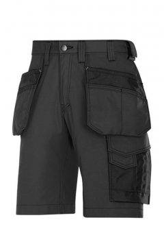 Snickers Shorts 3023 Craftsmen Holster Pocket Rip Stop - Black 1