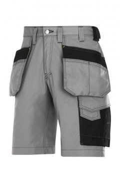 Snickers Shorts 3023 Craftsmen Holster Pocket Rip Stop - Grey / Black 7