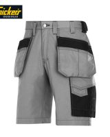 snickers 3023 grey shorts with logo