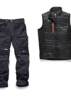 Scruffs Trouser / Bodywarmer Bundle (Black)
