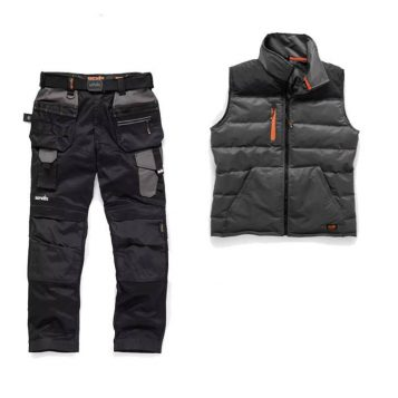 Scruffs Trouser / Bodywarmer Bundle (Grey / Charcoal)