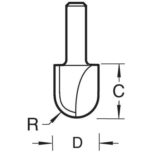 TREND C056X1/2TC - Radius 9.5mm radius x 19.1mm diameter 2