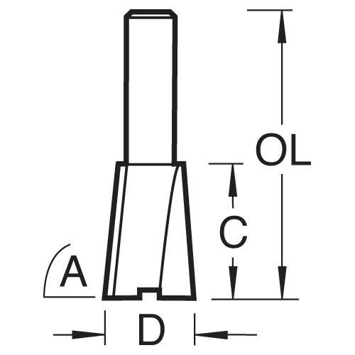 TREND 31/12X1/2TC - Dovetail cutter 104 degrees x 12.7mm diameter 2