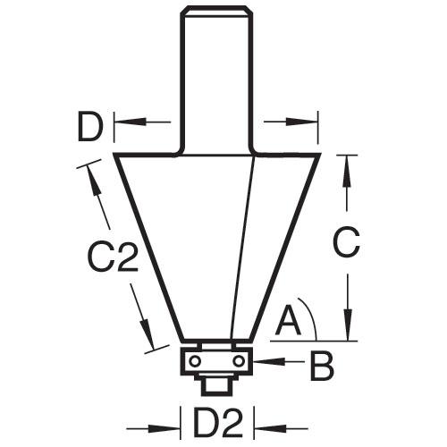 TREND 46/103X1/2TC - Bevel cutter 2