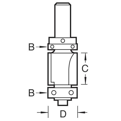 TREND 46/300X1/2TC - Double guided trim profile cutter 2