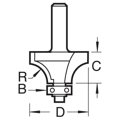 TREND 46/7/50X1/4TC - Bearing guided glazing bar cutter 2