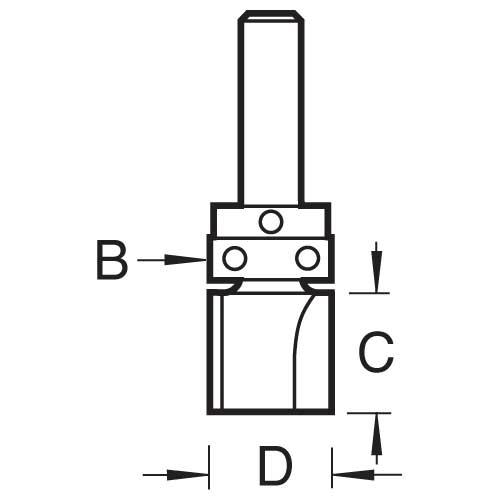 TREND 46/904X1/4TC - Guided profiler 9.5mm dia x 32mm 2