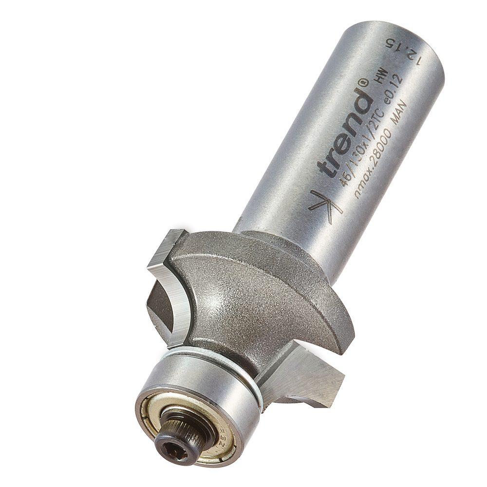 TREND 46/130X1/2TC - Bearing guided ovolo cutter 6.3mm radius 1