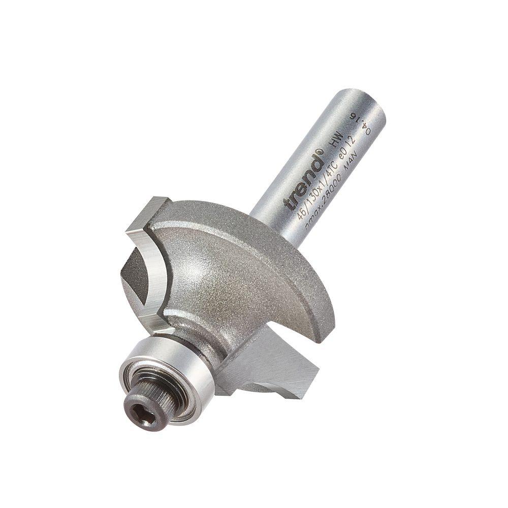 TREND 46/130X1/4TC - Bearing guided ovolo cutter 6.3mm radius 1