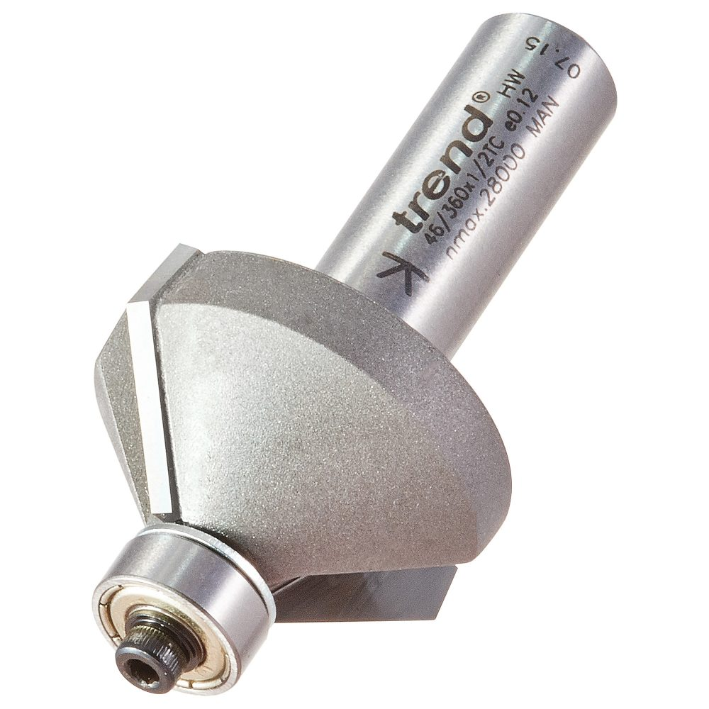 TREND 46/360X1/2TC - Guided chamfer cutter 45 degrees 1