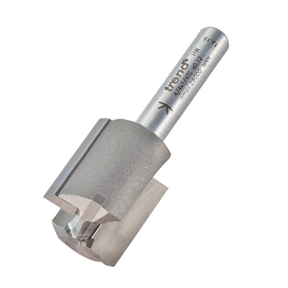 TREND 4/4X1/4TC - Two flute cutter 18.2mm diameter 1