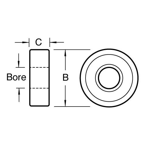 TREND B34C - Bearing 33.9mm x 1/2 bore 2