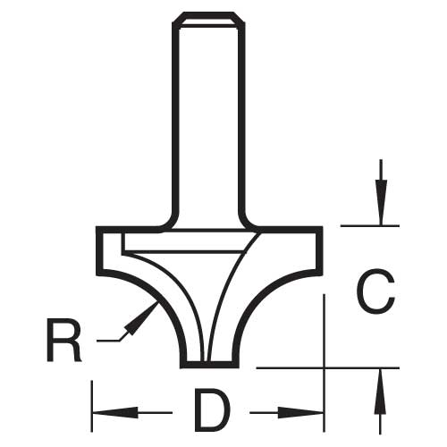 TREND C073X1/4TC - Sash bar 9.5mm radius x 25.4mm cut 2
