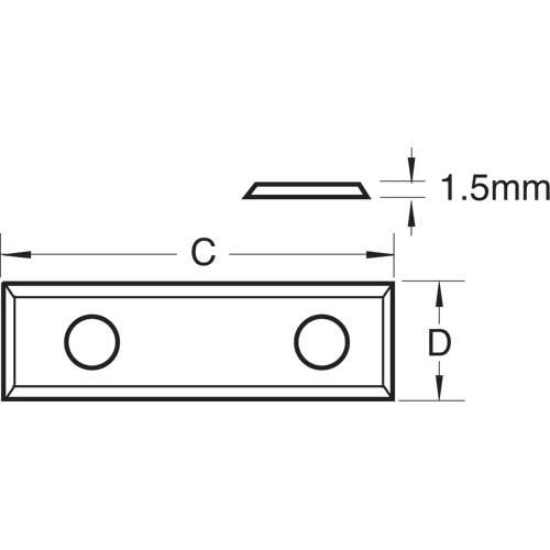 TREND RB/J - Rota-Tip blade 29.5x9.0x1.5mm 1 off 2