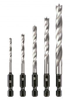 TREND SNAP/WTD1/SET - Trend Snappy wood twist drill set 5pc 6
